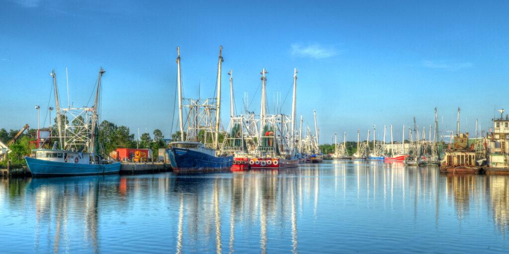 Shrimping boats in Bayou La Batre, Alabama.