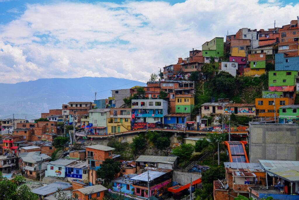 Colorful buildings in Medellin.