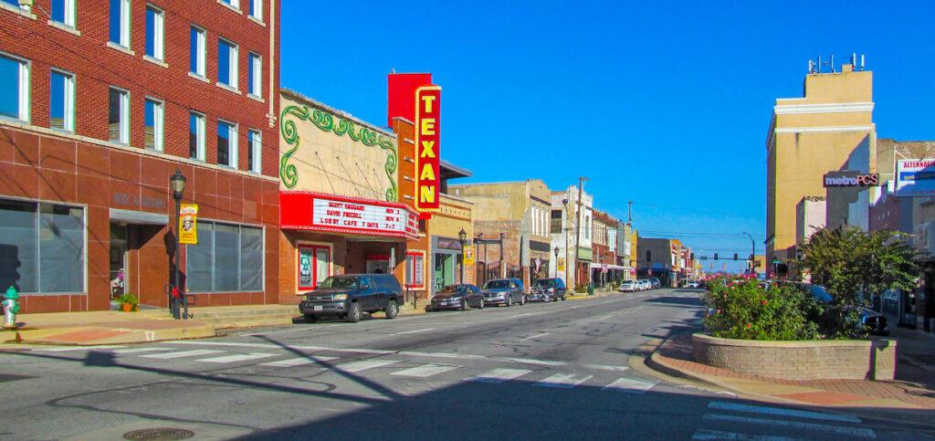 Street in Greenville, Texas.