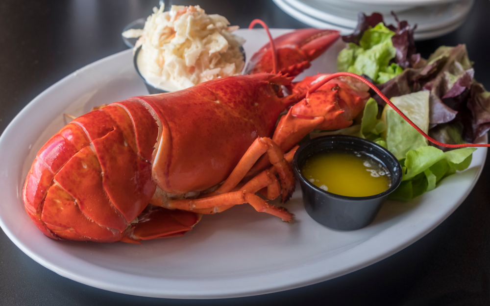 Whole Lobster Meal in Prince Edward Island, Canada.