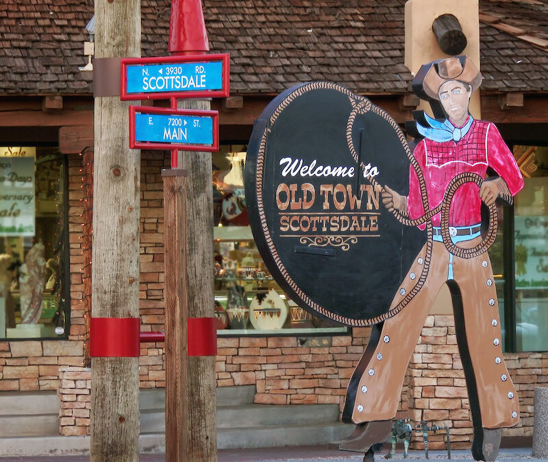 Welcome to Old Town Scottsdale sign