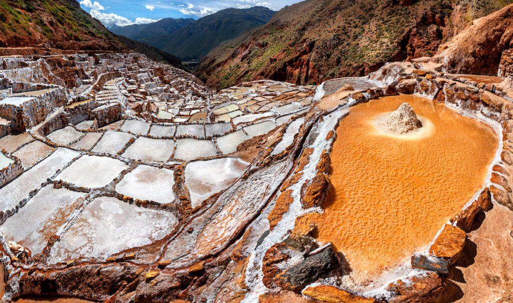 Salt Mines in Maras, Sacred Valley, Peru (Salineras).