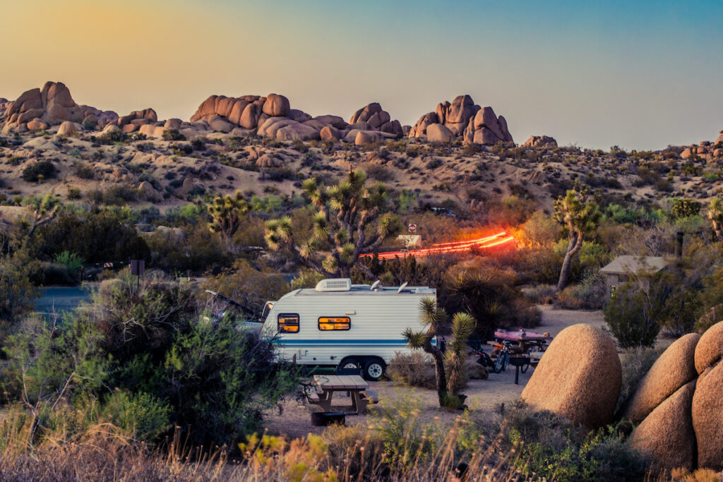 Campground in Joshua Tree.