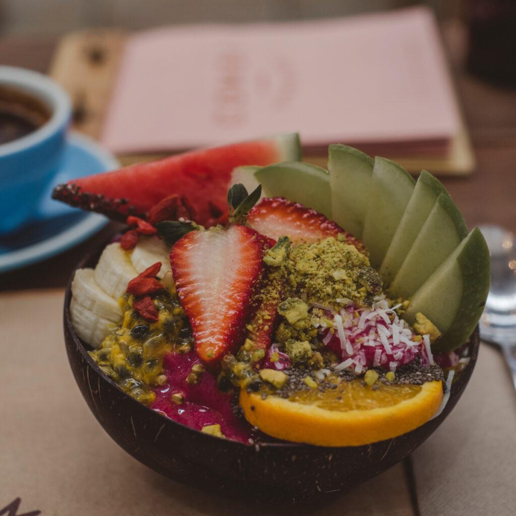 Dragon fruit bowl at Combi cafe in Byron Bay.