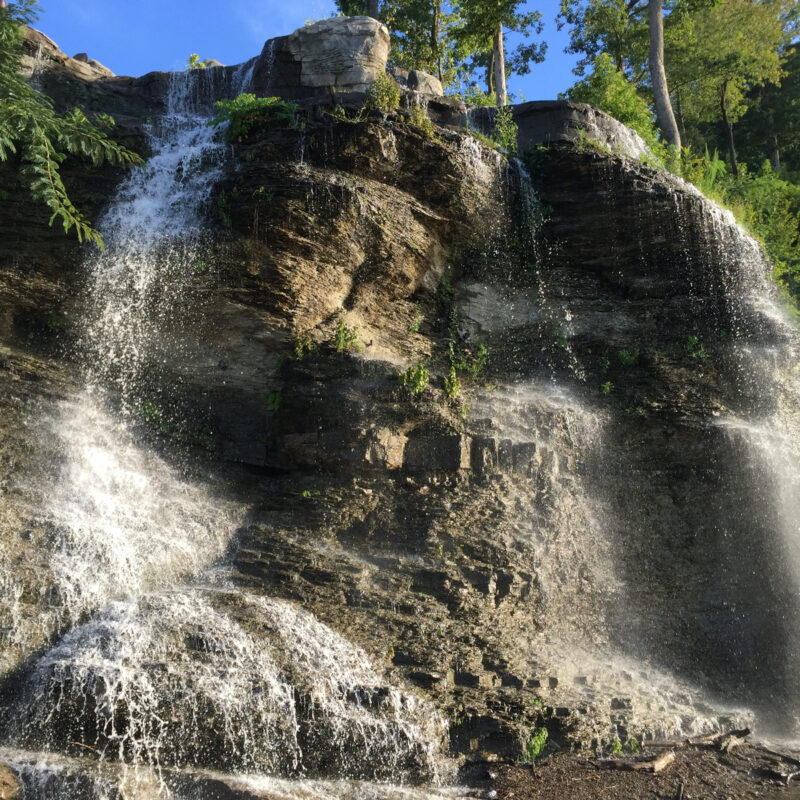 Waterfall along the Tennessee River in Florence, Alabama.