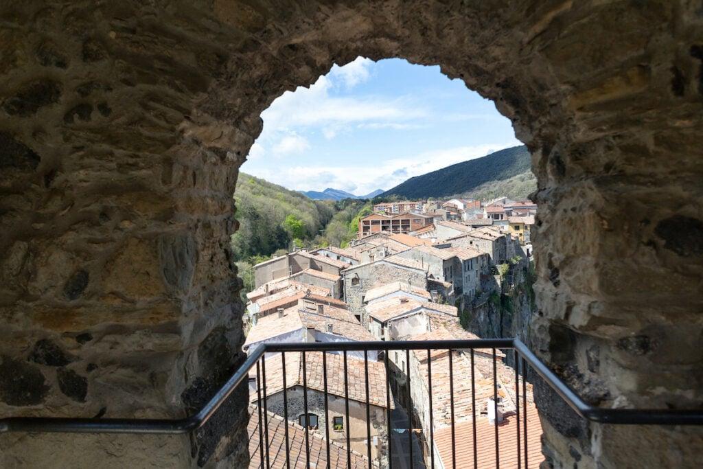 View of Castellfollit de la Roca.