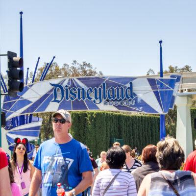 People at Disneyland Resort in Anaheim, California.