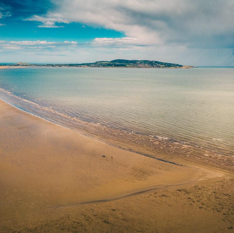 Howth Beach in Dublin, Ireland.