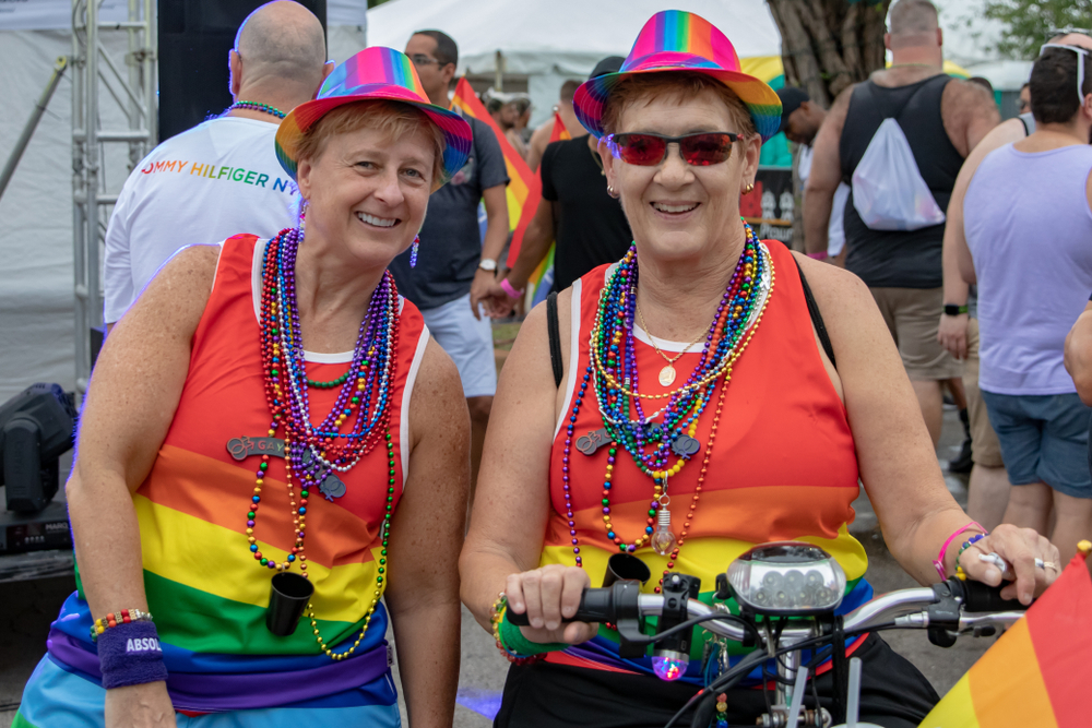 Wilton Manors, Florida/USA - June 15, 2019: Stonewall Pride Parade. As one of Wilton Manors largest lesbian, gay, bi-sexual, and transgender (LGBT) organizations. Is the oldest Pride celebration.