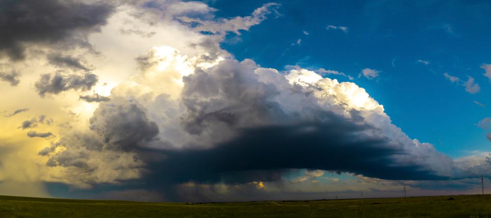 Storm systems near Greensburg, Kansas June 2019
