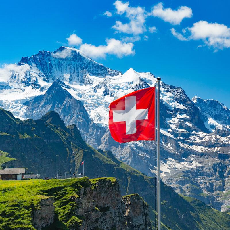 The Switzerland flag.