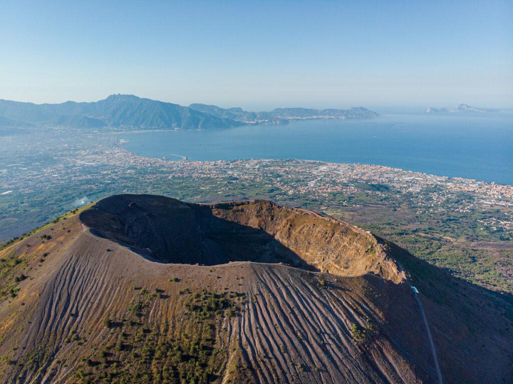 Mount Vesuvius in Italy.