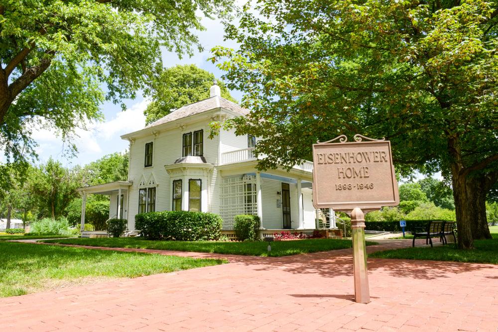 President Eisenhower boyhood home Abilene, Kansas