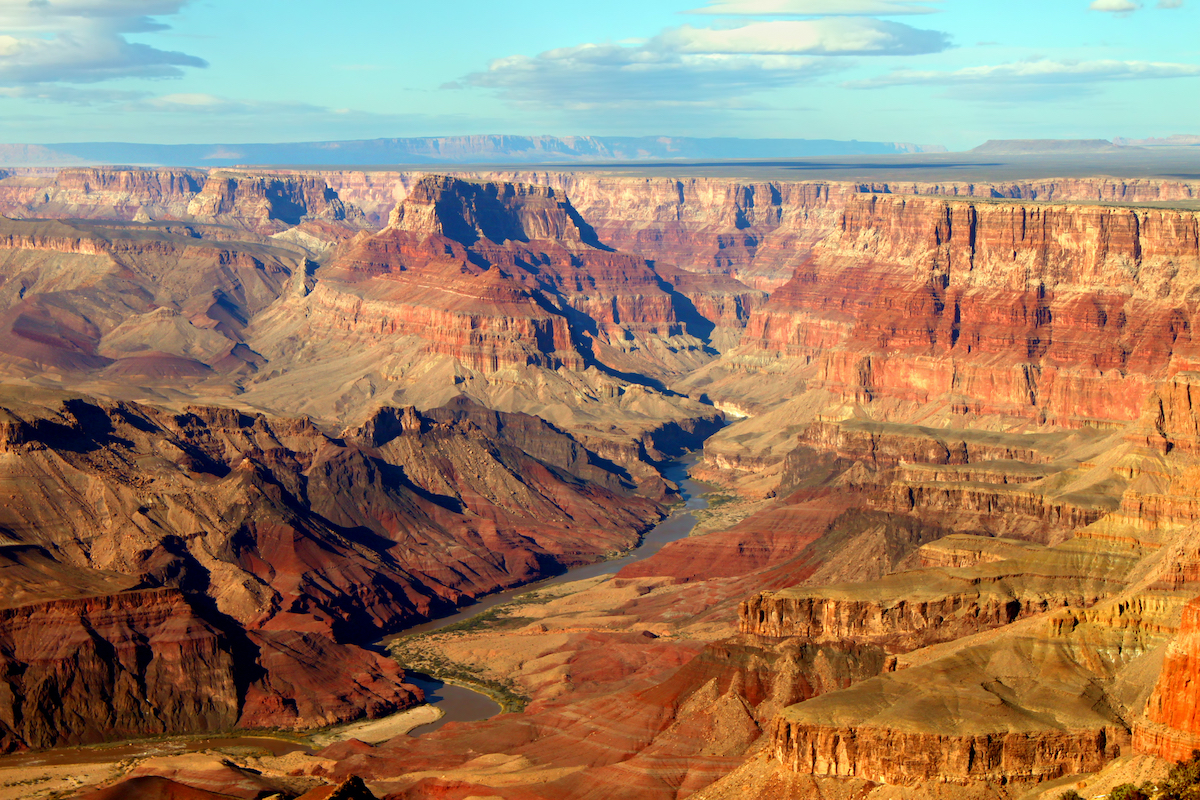 A view of the Grand Canyon.
