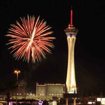 Fireworks in Las Vegas.