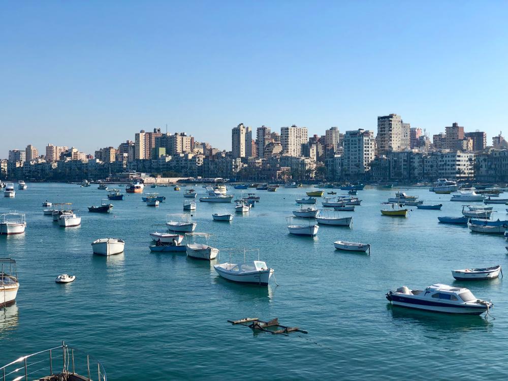 many boats in the Mediterranean Sea
