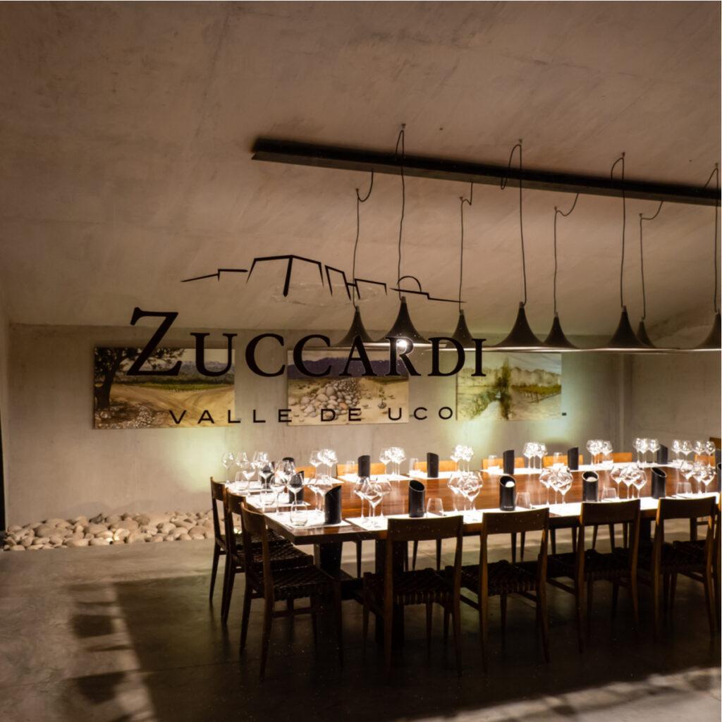 Tasting room in the Zuccardi Valle de Uco Winery in Luján de Cuyo, Mendoza, Argentina.