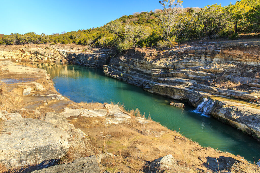 Canyon Lake Gorge formed in 2002 after many inches of rain fell and washed out the land.