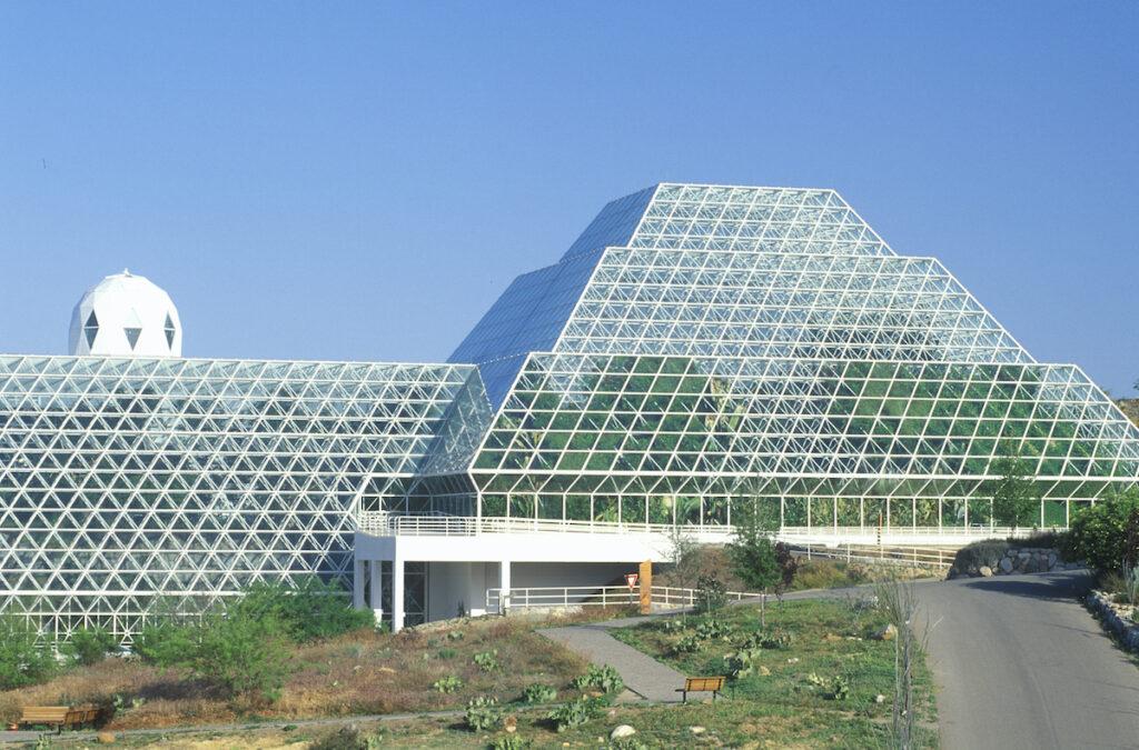 Biosphere 2 human habitat at Oracle in Tucson, AZ.