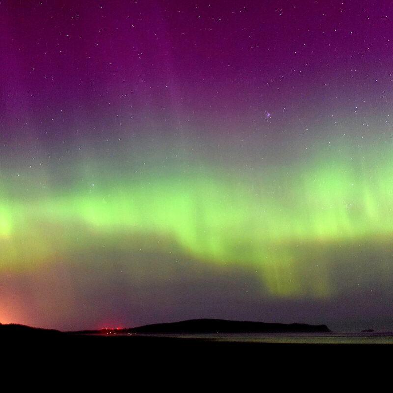 Aurora Australis display seen from Oreti Beach, Invercargill.