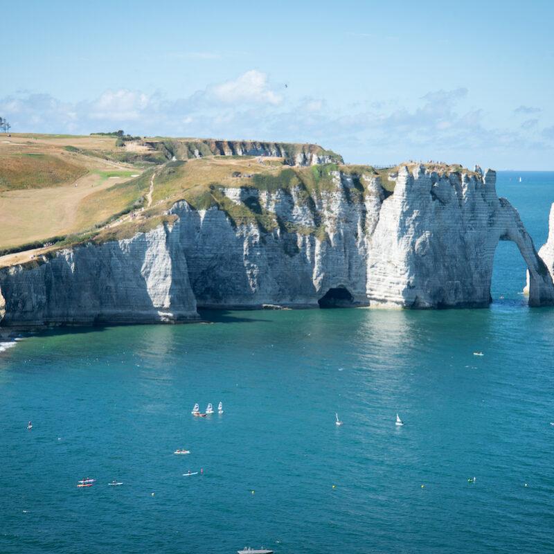 Beautiful cliffs in Étretat, Normandy, France