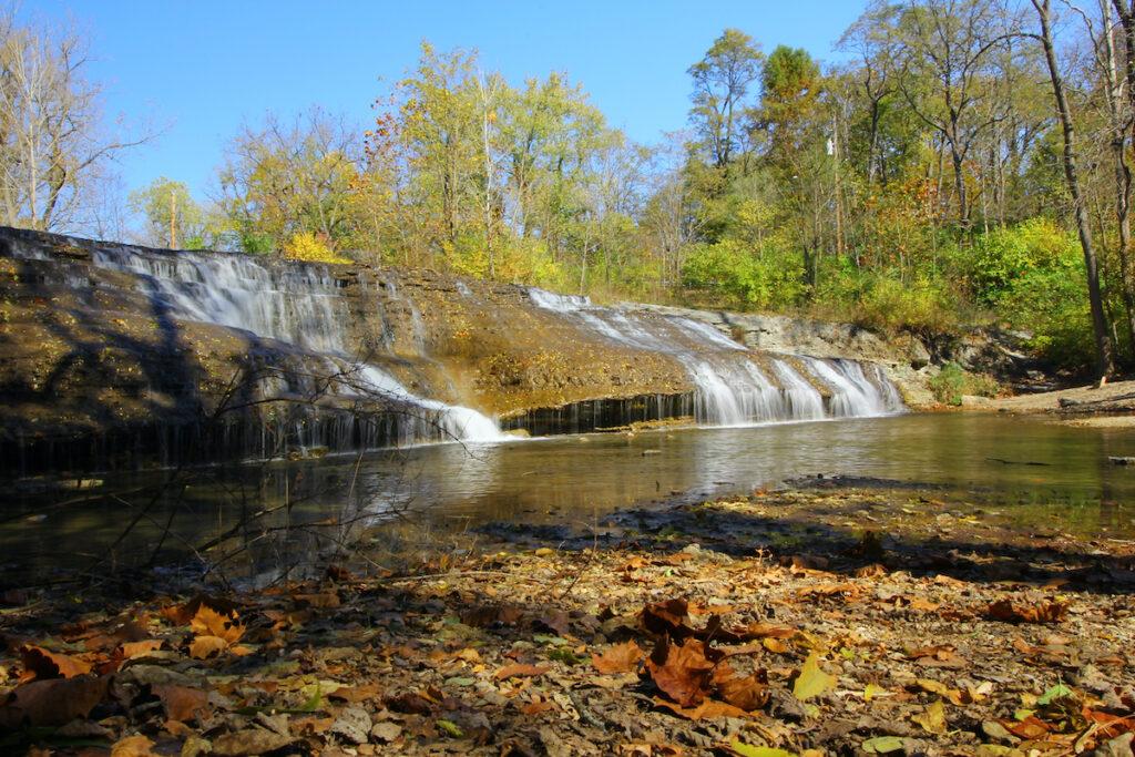 Waterfall in Richmond, Indiana.