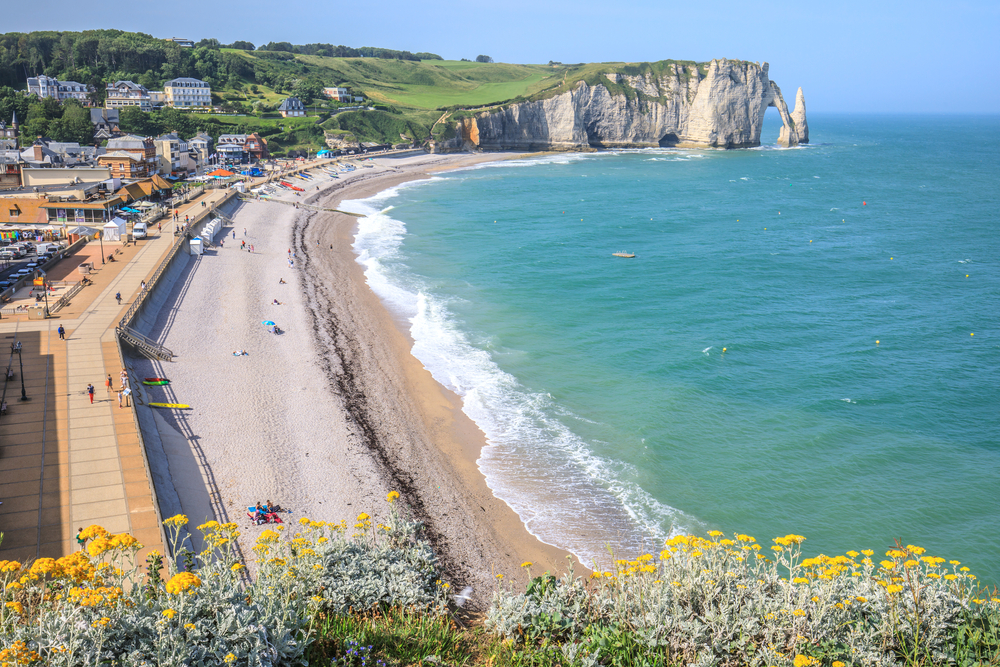 The beach of Etretat, Normandy, France