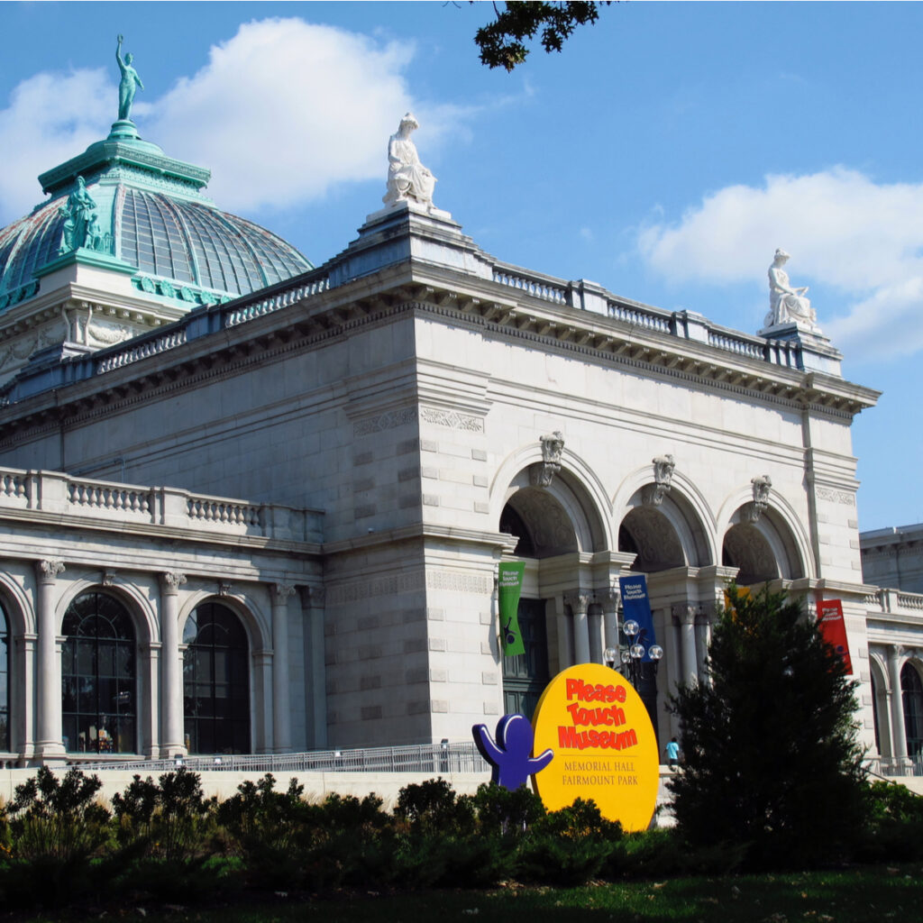 The front exterior of Please Touch Museum in Philadelphia.