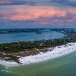 overhead view of Fort Myers Beach