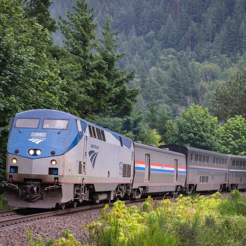 Amtrak's Empire Builder overnight passenger train.