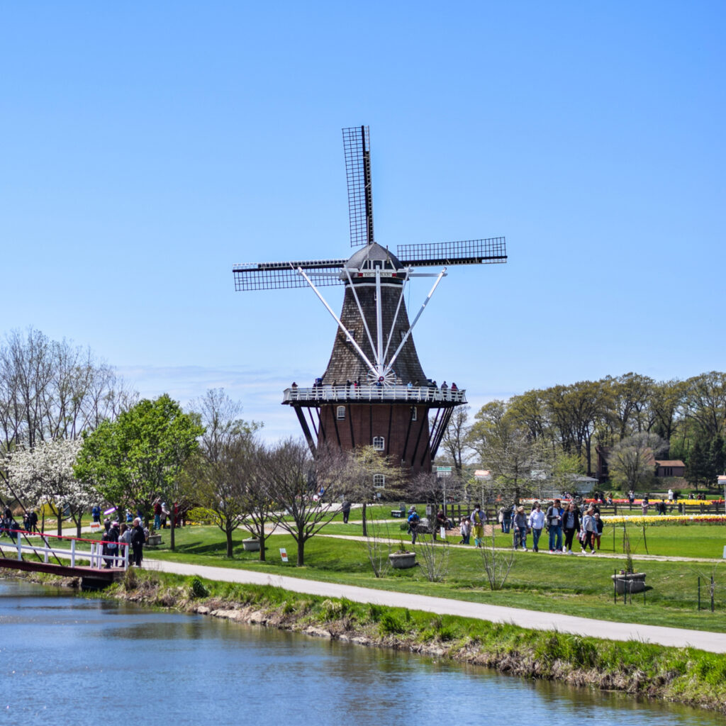 Windmill Island Gardens during the annual Tulip Time festival.
