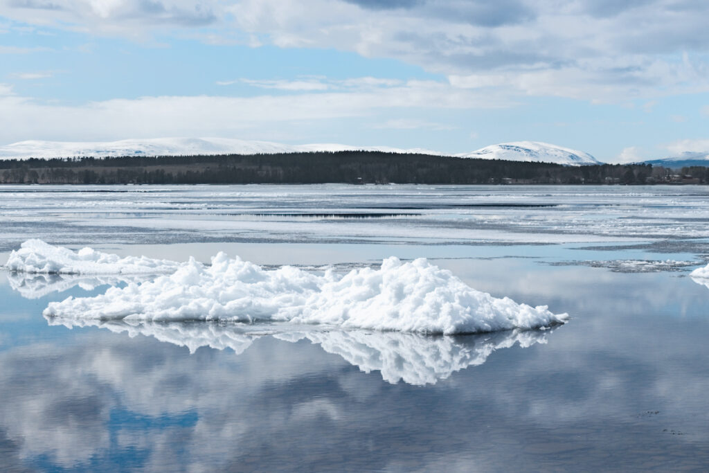 Lake Storsjon in Sweden.