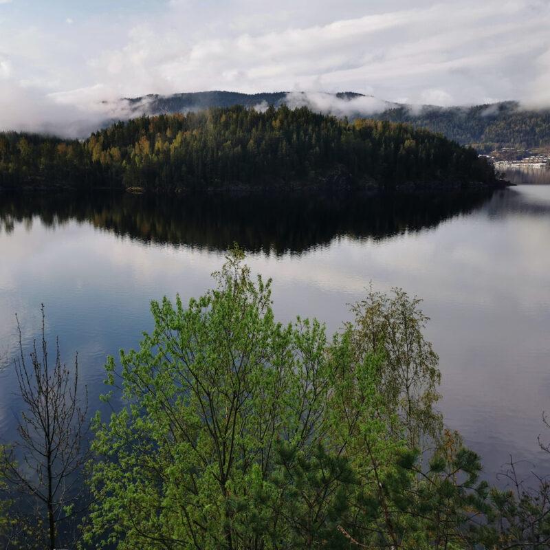 Seljordsvatnet Lake in Norway.