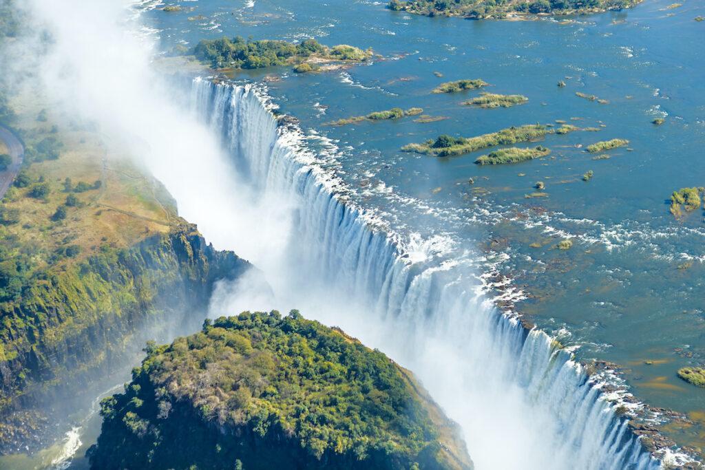 Victoria Falls in Zimbabwe/Zambia.