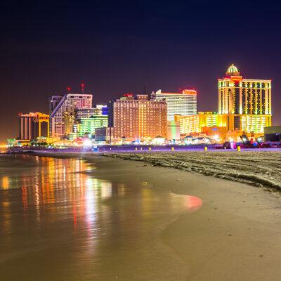 Atlantic City, New Jersey, at night.