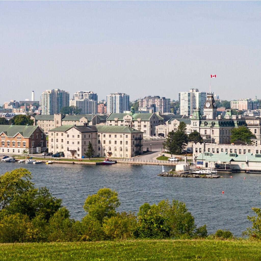Skyline of Kingston, Ontario.