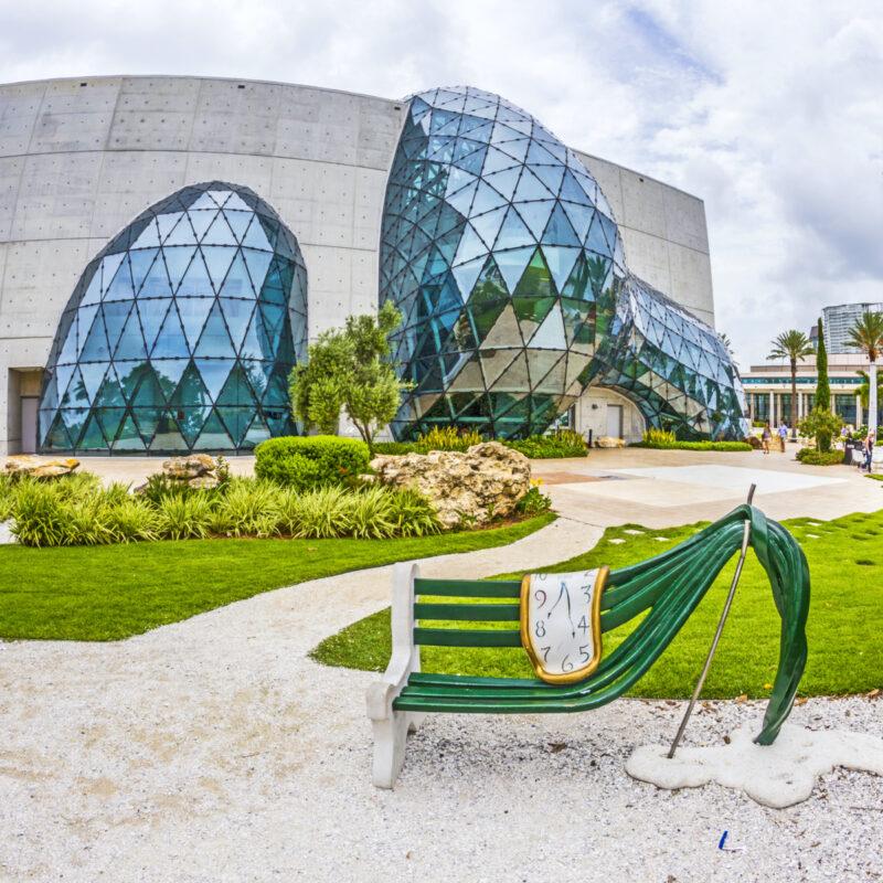 Exterior of Salvador Dali Museum in St. Petersburg, FL.