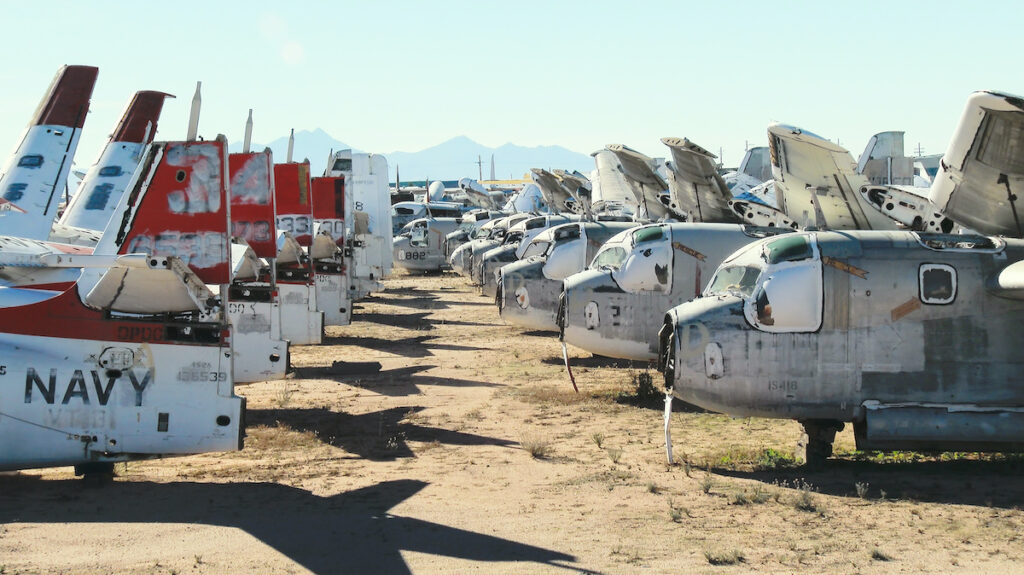 Osquery of disused military planes.
