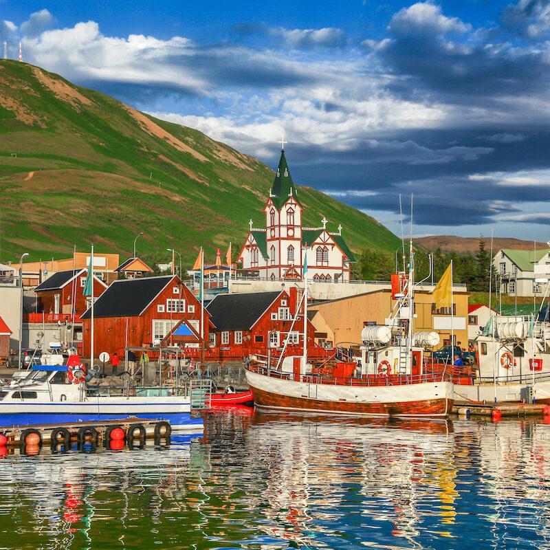 Historic Husavik, Iceland.