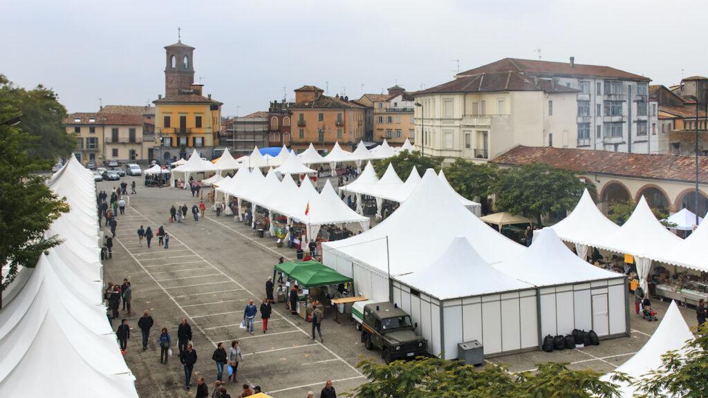 The truffle fair in Moncalvo.