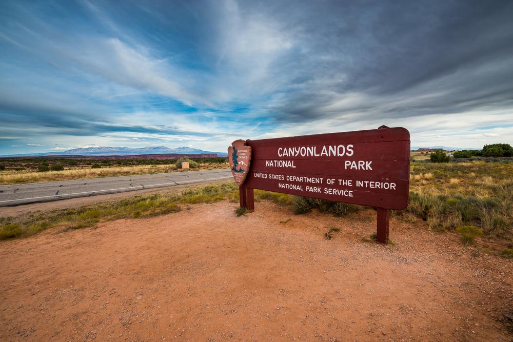 Canyonlands National Park Entrance Sign Moab Utah United States