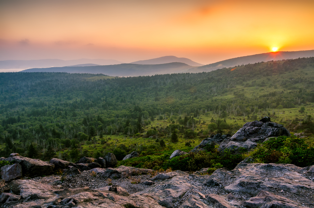 Grayson Highlands from Wilburn Ridge just off the Appalachian Trail