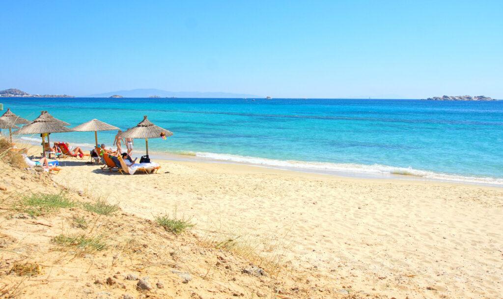 Beach on the island of Naxos, Greece.