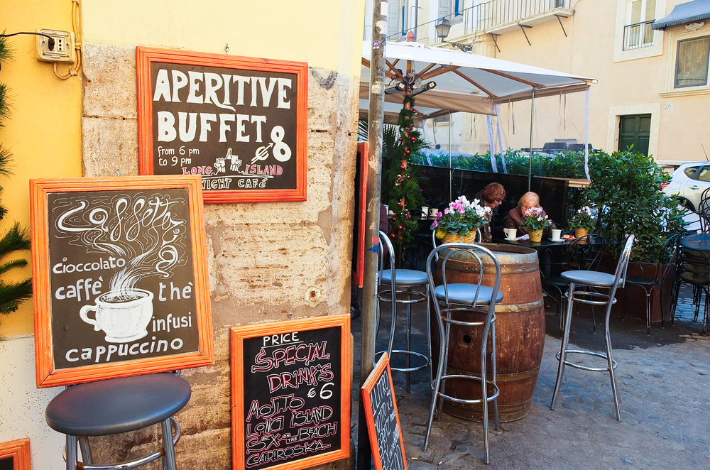 23 may 2015-rome-italy-Places to eat in the district of Trastevere,rome