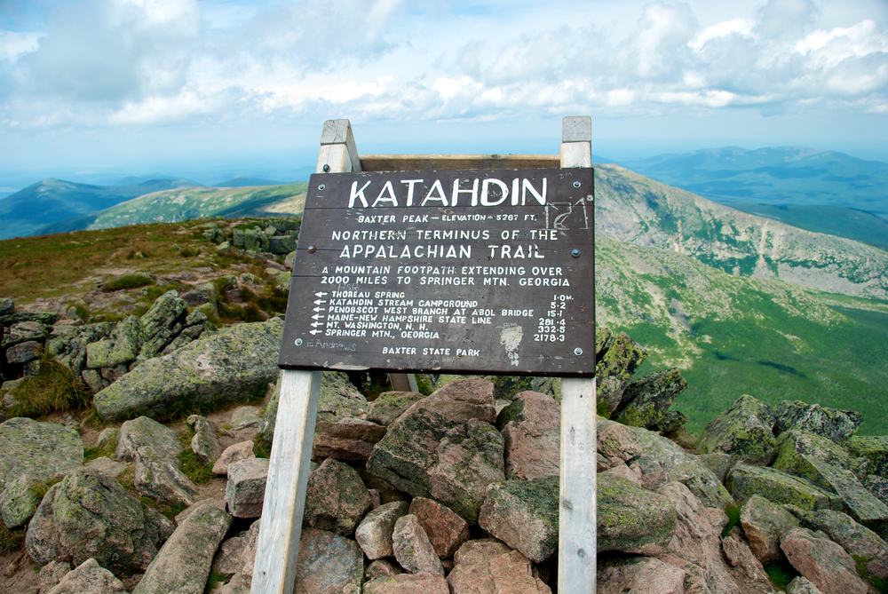 Mount Katahdin, Appalachian Trail Sign