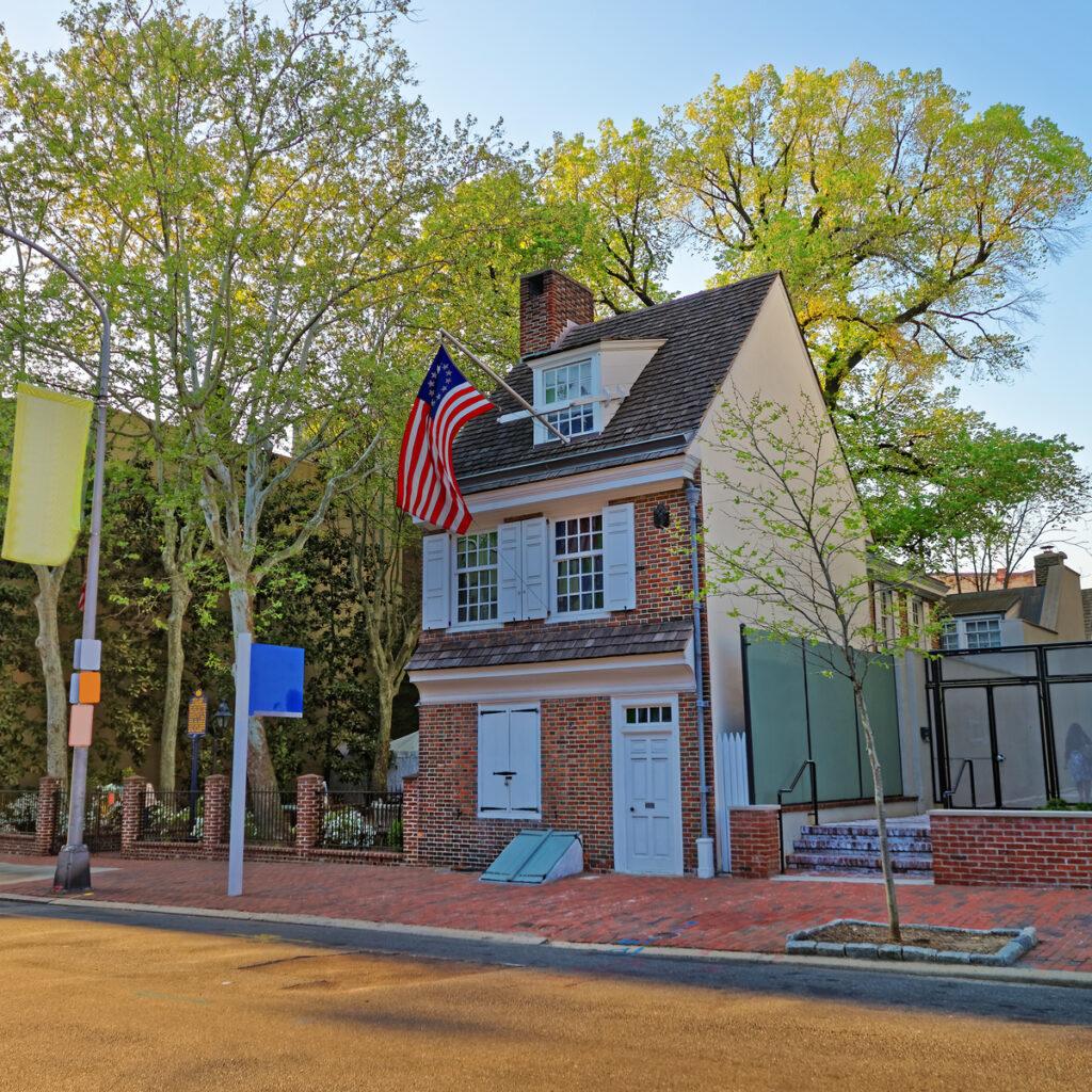 Betsy Ross house home in Philadelphia, Pennsylvania.