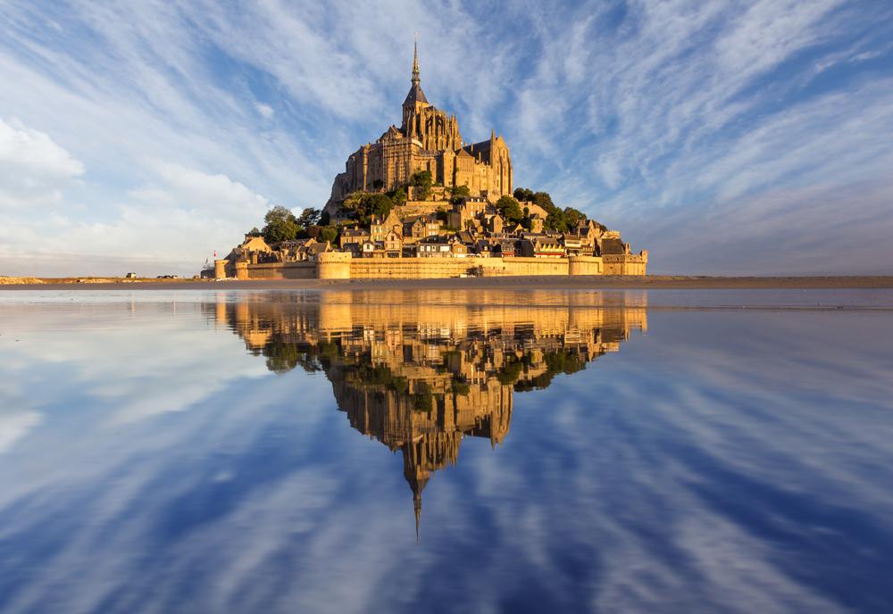 Spring Tide Phenomenon At Mont Saint-Michel