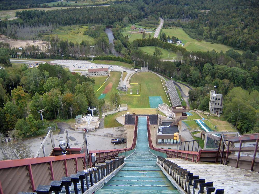 Downhill View from the Ski Jump at Lake Placid