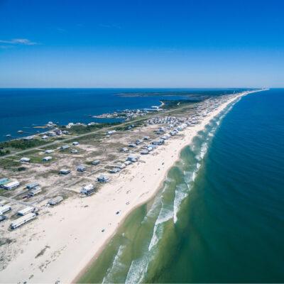 Gulf Shores/Fort Morgan peninsula, Alabama.