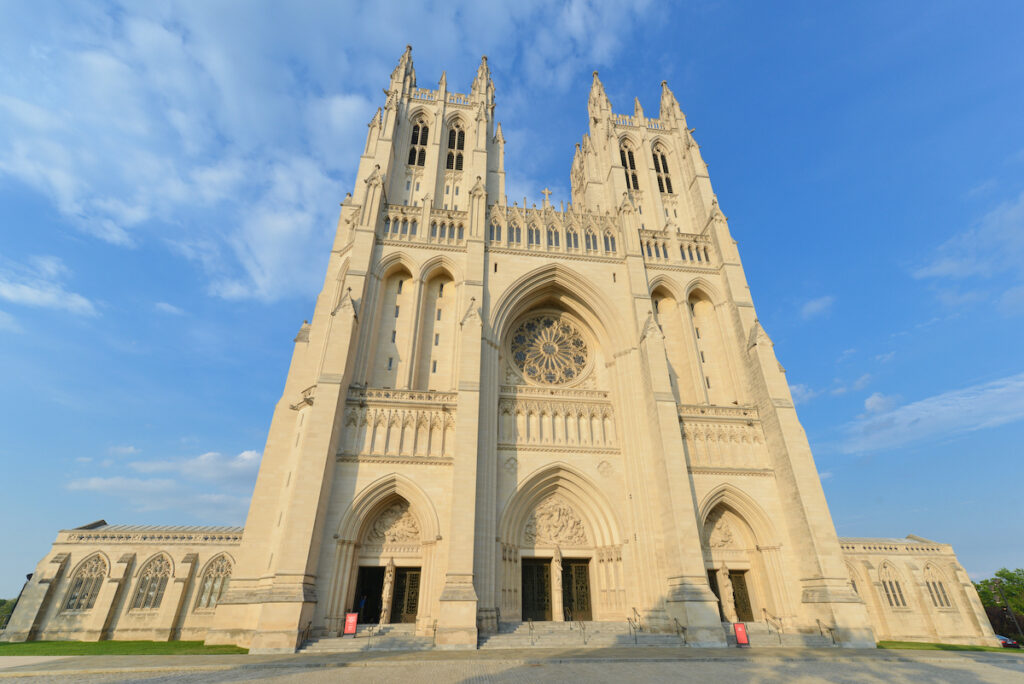 National Cathedral Building in Washington DC.